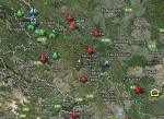 Top Destinations in Serbia - Google map