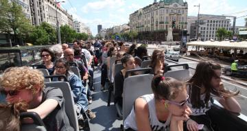 Panoramic Sightseeing in an Open-Air Bus